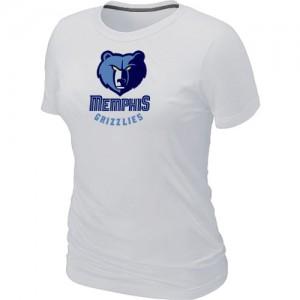 T-shirt principal de logo Memphis Grizzlies NBA Big & Tall Blanc - Femme