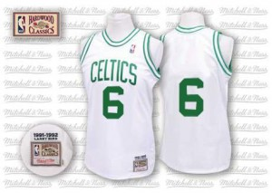Boston Celtics #6 Mitchell and Ness Throwback Blanc Swingman Maillot d'équipe de NBA vente en ligne - Bill Russell pour Homme
