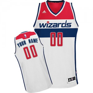 Maillot NBA Washington Wizards Personnalisé Swingman Blanc Adidas Home - Enfants
