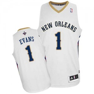 Maillot NBA Authentic Tyreke Evans #1 New Orleans Pelicans Home Blanc - Homme