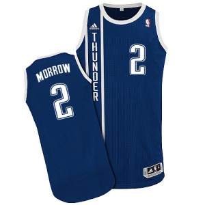 Maillot Authentic Oklahoma City Thunder NBA Alternate Bleu marin - #2 Anthony Morrow - Homme