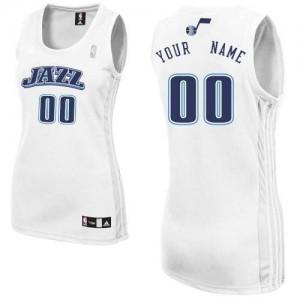 Utah Jazz Personnalisé Adidas Home Blanc Maillot d'équipe de NBA en ligne - Authentic pour Femme