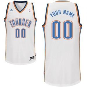 Maillot NBA Oklahoma City Thunder Personnalisé Swingman Blanc Adidas Home - Enfants
