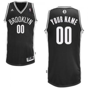 Maillot NBA Noir Swingman Personnalisé Brooklyn Nets Road Enfants Adidas