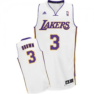 Maillot NBA Swingman Anthony Brown #3 Los Angeles Lakers Alternate Blanc - Homme