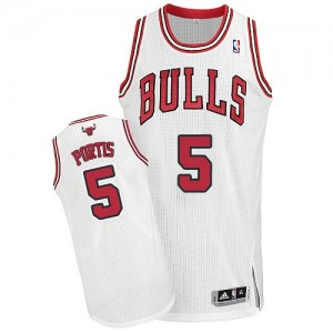 Maillot NBA Authentic Bobby Portis #5 Chicago Bulls Home Blanc - Homme