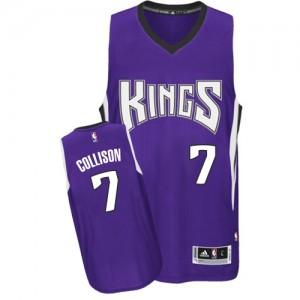 Sacramento Kings #7 Adidas Road Violet Authentic Maillot d'équipe de NBA la vente - Darren Collison pour Homme