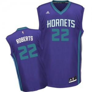 Charlotte Hornets Brian Roberts #22 Alternate Swingman Maillot d'équipe de NBA - Violet pour Homme