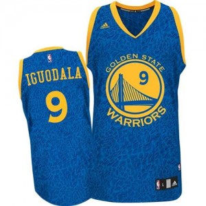 Golden State Warriors Andre Iguodala #9 Crazy Light Authentic Maillot d'équipe de NBA - Bleu pour Homme
