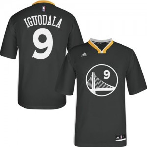 Maillot NBA Authentic Andre Iguodala #9 Golden State Warriors Alternate Noir - Homme