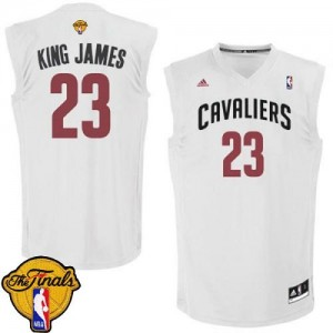 Maillot Swingman Cleveland Cavaliers NBA King James 2015 The Finals Patch Blanc - #23 LeBron James - Homme
