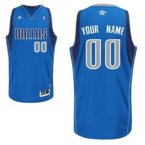 Maillot NBA Dallas Mavericks Personnalisé Swingman Bleu royal Adidas Road - Enfants