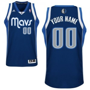 Dallas Mavericks Swingman Personnalisé Alternate Maillot d'équipe de NBA - Bleu marin pour Enfants
