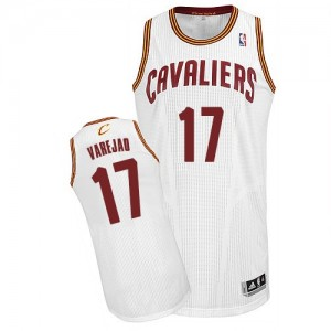 Maillot Adidas Blanc Home Authentic Cleveland Cavaliers - Anderson Varejao #17 - Homme