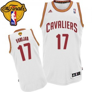 Maillot NBA Swingman Anderson Varejao #17 Cleveland Cavaliers Home 2015 The Finals Patch Blanc - Homme