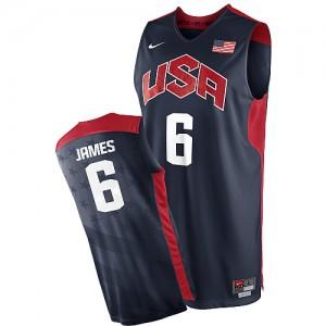 Maillot NBA Authentic LeBron James #6 Team USA 2012 Olympics Bleu marin - Homme