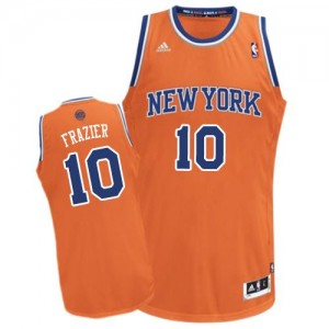 New York Knicks Walt Frazier #10 Alternate Swingman Maillot d'équipe de NBA - Orange pour Homme