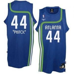 Atlanta Hawks #44 Adidas Pistol Bleu clair Authentic Maillot d'équipe de NBA Vente pas cher - Pete Maravich pour Homme