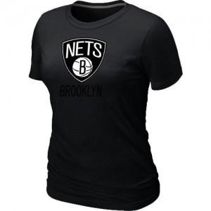 Brooklyn Nets Big & Tall Tee-Shirt d'équipe de NBA - Noir pour Femme