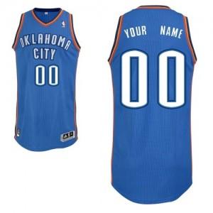 Maillot NBA Bleu royal Authentic Personnalisé Oklahoma City Thunder Road Enfants Adidas