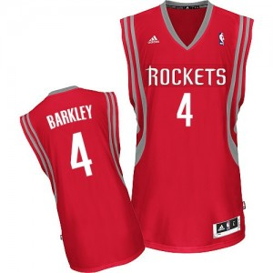 Maillot NBA Rouge Charles Barkley #4 Houston Rockets Road Swingman Homme Adidas