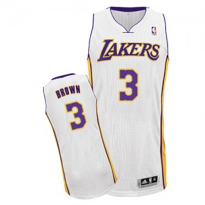 Maillot Adidas Blanc Alternate Authentic Los Angeles Lakers - Anthony Brown #3 - Homme