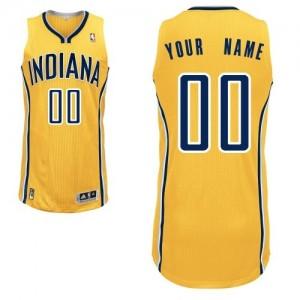 Indiana Pacers Authentic Personnalisé Alternate Maillot d'équipe de NBA - Or pour Homme