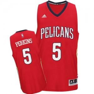 New Orleans Pelicans Kendrick Perkins #5 Alternate Authentic Maillot d'équipe de NBA - Rouge pour Homme