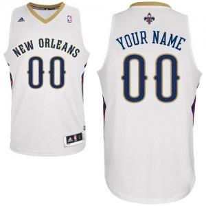 Maillot NBA Swingman Personnalisé New Orleans Pelicans Home Blanc - Homme
