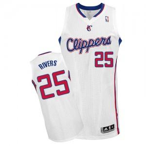 Los Angeles Clippers Austin Rivers #25 Home Authentic Maillot d'équipe de NBA - Blanc pour Homme