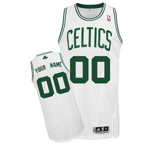 Maillot NBA Boston Celtics Personnalisé Authentic Blanc Adidas Home - Enfants