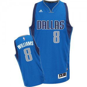 Dallas Mavericks #8 Adidas Road Bleu royal Swingman Maillot d'équipe de NBA sortie magasin - Deron Williams pour Femme