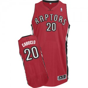 Toronto Raptors Bruno Caboclo #20 Road Authentic Maillot d'équipe de NBA - Rouge pour Homme