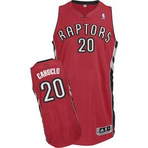 Toronto Raptors Bruno Caboclo #20 Road Authentic Maillot d'équipe de NBA - Rouge pour Homme