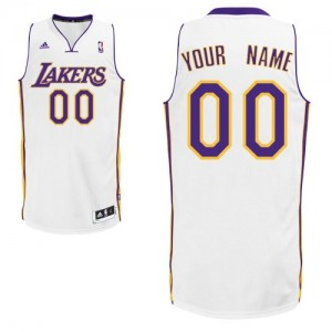 Maillot NBA Blanc Swingman Personnalisé Los Angeles Lakers Alternate Enfants Adidas