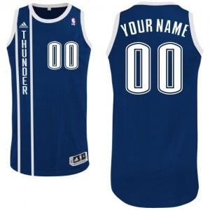 Oklahoma City Thunder Authentic Personnalisé Alternate Maillot d'équipe de NBA - Bleu marin pour Homme