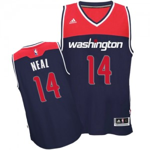 Maillot NBA Bleu marin Gary Neal #14 Washington Wizards Alternate Authentic Homme Adidas