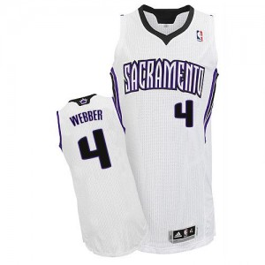 Maillot Authentic Sacramento Kings NBA Home Blanc - #4 Chris Webber - Homme