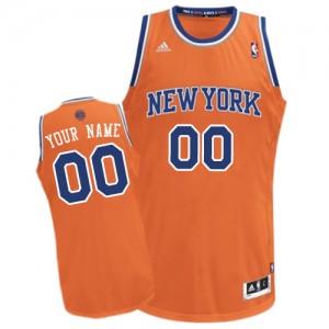 Maillot NBA Orange Swingman Personnalisé New York Knicks Alternate Enfants Adidas