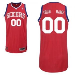 Maillot Philadelphia 76ers NBA Road Rouge - Personnalisé Authentic - Homme
