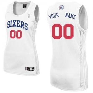 Maillot NBA Authentic Personnalisé Philadelphia 76ers Home Blanc - Femme