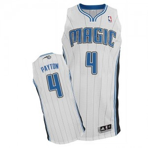 Orlando Magic Elfrid Payton #4 Home Authentic Maillot d'équipe de NBA - Blanc pour Homme