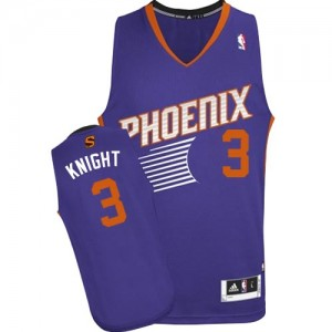 Maillot NBA Phoenix Suns #3 Brandon Knight Violet Adidas Authentic Road - Homme