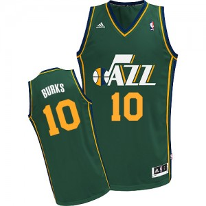 Maillot Swingman Utah Jazz NBA Alternate Vert - #10 Alec Burks - Homme