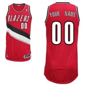 Portland Trail Blazers Authentic Personnalisé Alternate Maillot d'équipe de NBA - Rouge pour Femme