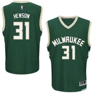 Maillot Authentic Milwaukee Bucks NBA Road Vert - #31 John Henson - Homme
