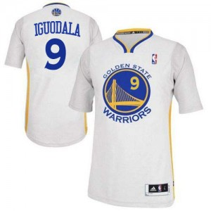 Maillot NBA Blanc Andre Iguodala #9 Golden State Warriors Alternate Authentic Homme Adidas