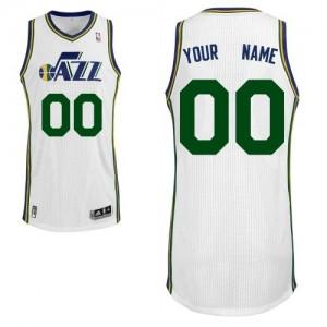 Utah Jazz Personnalisé Adidas Home Blanc Maillot d'équipe de NBA Vente pas cher - Authentic pour Homme