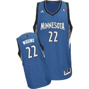 Minnesota Timberwolves #22 Adidas Road Slate Blue Swingman Maillot d'équipe de NBA Prix d'usine - Andrew Wiggins pour Homme