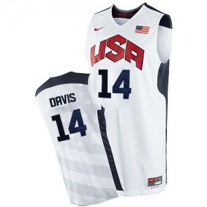 Maillot NBA Blanc Anthony Davis #14 Team USA 2012 Olympics Authentic Homme Nike